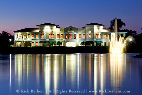 Night Photo of Imperial Country Club in Naples, Florida © Rick Bethem Photography. All Rights Reserved.