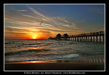 Sunset at the Naples pier